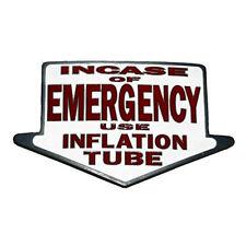 TUBO di inflazione EMERGENCY Cintura Fibbia Divertente Rude Novità Regalo Fit Snap Cintura
