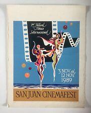 Augusto Marin, Signed San Juan Cinema Fest Serigraph '89 Cartel, Puerto Rico Art
