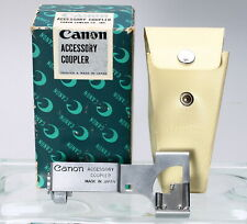 CANON ACCESSORY COUPLER for CANON MODEL 7 RANGEFINDER - BOXED, EX+!