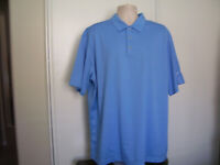 NIKE GOLF Men's Size XXL 2XL Sky Blue Golf Short Sleeve Dri Fit Polo Shirt