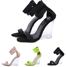 Modern Sandalen Reißverschluss Damenschuhe Plateau Reißverschluss Gr.34-39