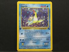 1st Edition Holo Lapras 10/62 - Fossil Set Pokemon Card (Played)
