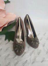 Azalea High Heel Shoes Size 40 Uk7 Evening / Casual  Beige  Rrp £69 ⭐⭐⭐