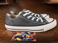 Converse Chuck Taylor All Star Womens Washed Ox Dark Grey/White 147037C Sz 6