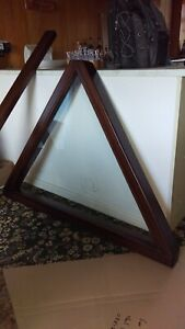 Narrow boat hardwood hinged Cratch/A-frame