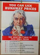 "Original WWII Poster:  ""You Can Lick Runaway Prices"