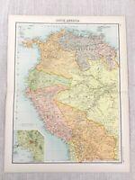 1898 Map of South America Lima Peru Bolivia Brazil Ecuador Columbia Venezuela