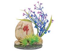 Piedra Oriental y Plantas Goldfish Bowl Acuario Peces Tanque Ornamento Decoración