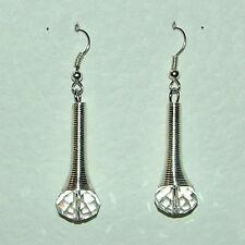 Hook Crystal Silver Plated Drop/Dangle Costume Earrings