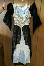 3 Piece Medieval Renaissance Maiden Outfit Dress, Bodice/Corset, Layering Lace