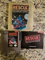 RESCUE: THE EMBASSY MISSION - NINTENDO NES - WITH MANUAL FREE SHIPPING