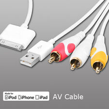 Composite AV Cable For iPod APPLE iPhone 4s 4 IPad 2 iPod touch 4th