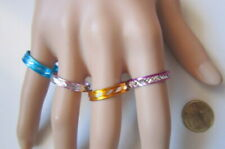 Lote 4 anillos aluminio colores nº 10 ó 19 mm diámetro medio bisutería r-55