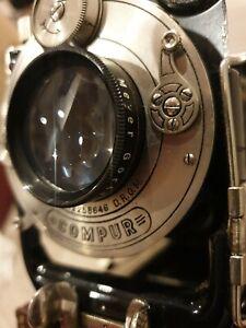Ihagee Folding 6.5x9cm Plate Camera + Meyer Gorlitz Trioplan 105mm f3.5 + case