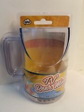 TV Beer Mug Angled For Better Viewing Gag Funny Drunk drinking