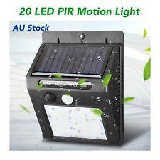 20 LED Solar Powered PIR Motion Sensor Lights Garden Outdoor Security Fence Shed