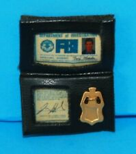 Barbie Ken X-FILES Agent Mulder BADGE WALLET Really Cute For Diorama