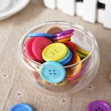 100x Plastic Round Colorful Buttons 25mm 4 holes Scarpbook Embellishment Crafts