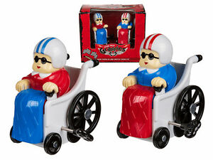 SET OF 2 GRAND PRIX GRANNIES WIND UP TOY RACING FUN ADULT GRANNY OFFICE PARTY