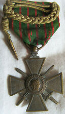 DEC4333 - CROIX DE GUERRE 1914-1918 avec mini fourragère