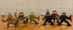 Fisher Price Great Adventure Castle Knights Lot of 6 Gold/Black Figures 1994
