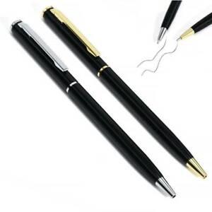 2Pcs Stainless_Steel Ballpoint Pen Office Writing Pen Student Stationery Gift US