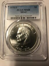 *** 1976-S Silver Eisenhower Ike PCGS MS 68 Dollar***