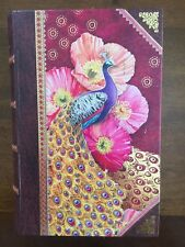 FEATHERS. PUNCH STUDIO decorative faux BOOK box. PEACOCK. PURPLE. SMALL. NEW.