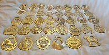 JOB LOT OF 38 HORSE BRASSES