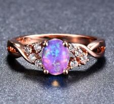 GV12 Purple Opal Topaz Natural 3.8ct solid gold 10K 3.9g US7 Ring 2019 New Style