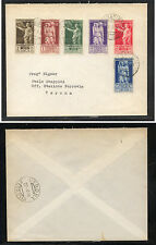 Italy  East  Africa   21-26  on  cover to  Italy   1938      KL0430