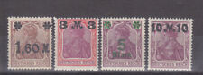 Germany Deutsches Reich 1921 Mi. Nr. 154-157 I Early Inflation Overprints MH