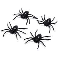 4Xblack En Plastique Araignée Drôle Fausses Araignées Fête D'Halloween FE