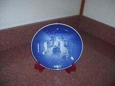 B&G Christmas Plate 1979 White Christmas Blue And White
