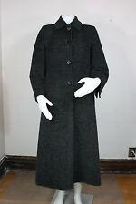 Max Mara coat 4 alpaca wool silk reversible charcoal gray black