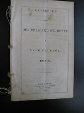 New Haven Yale College 1847 Catalogue Officers Students Faculty Instruction