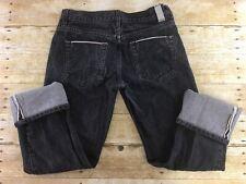 DC Shoes Selvedge Jeans Mens 30x28 Black Skater Grunge Skateboarding
