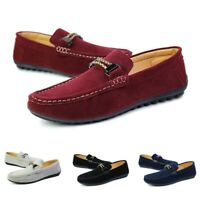 US Men's Loafers Suede Driving Moccasins Shoes Summer Breathable Casual Flats