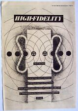 Elvis Costello 1980 Poster Ad High Fidelity get happy