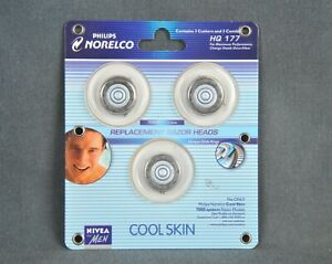 Philips Norelco Cool Skin 7000 System Replacement Razor Heads HQ177 - 3 Pack