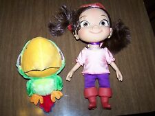 DISNEY JAKE AND THE NEVERLAND PIRATES TALKING IZZY DOLL & PLUSH SKULLEY PARROT