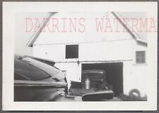 Unusual Vintage Photo Artistic 1940 Buick Car & Truck at Barn 739617