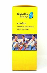 Rosetta Stone Spanish (Latin America) Espanol Version 4 Level 1-5 Set