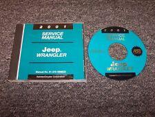 2001 Jeep Wrangler Shop Service Repair Manual DVD SE Sport Sahara 2.5L 4.0L