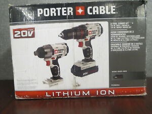 PORTER-CABLE 20V MAX Cordless Drill Combo Kit, 2-Tool (1 BATTERY- NO CHARGER)