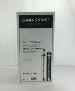 Gama Sonic Polaris Solar Medium 1-Light Black LED Outdoor Post Light & Lamp Post