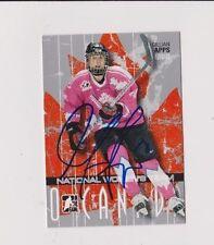 ITG O Canada Gillian Apps Team Canada Women's Hockey Autographed Card LLBlue