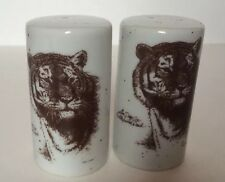 Vintage Tiger Cat San Diego Zoo Wild Animal Park Salt and Pepper Shakers