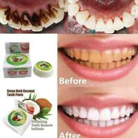 10g Coconut Oil Toothpaste Herbal Natural, Clove, Mint, Teeth Whitening·Neu Z6H4