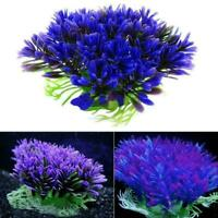 Plastic Artificial Water Green Grass Plant Aquarium Fish Ornament Type Tank I2S4